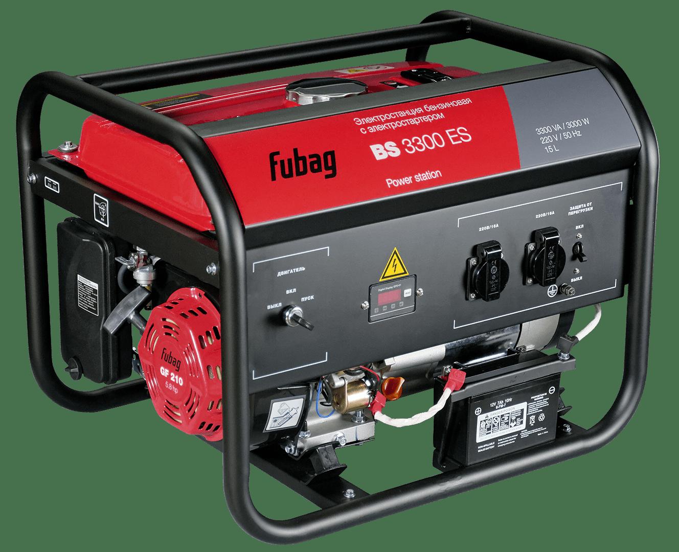 бензиновая электростанция fubag bs 3300 es
