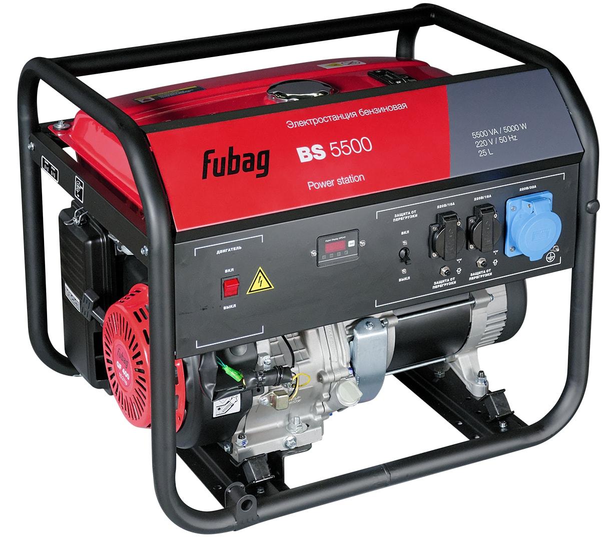 бензиновая электростанция fubag bs 5500