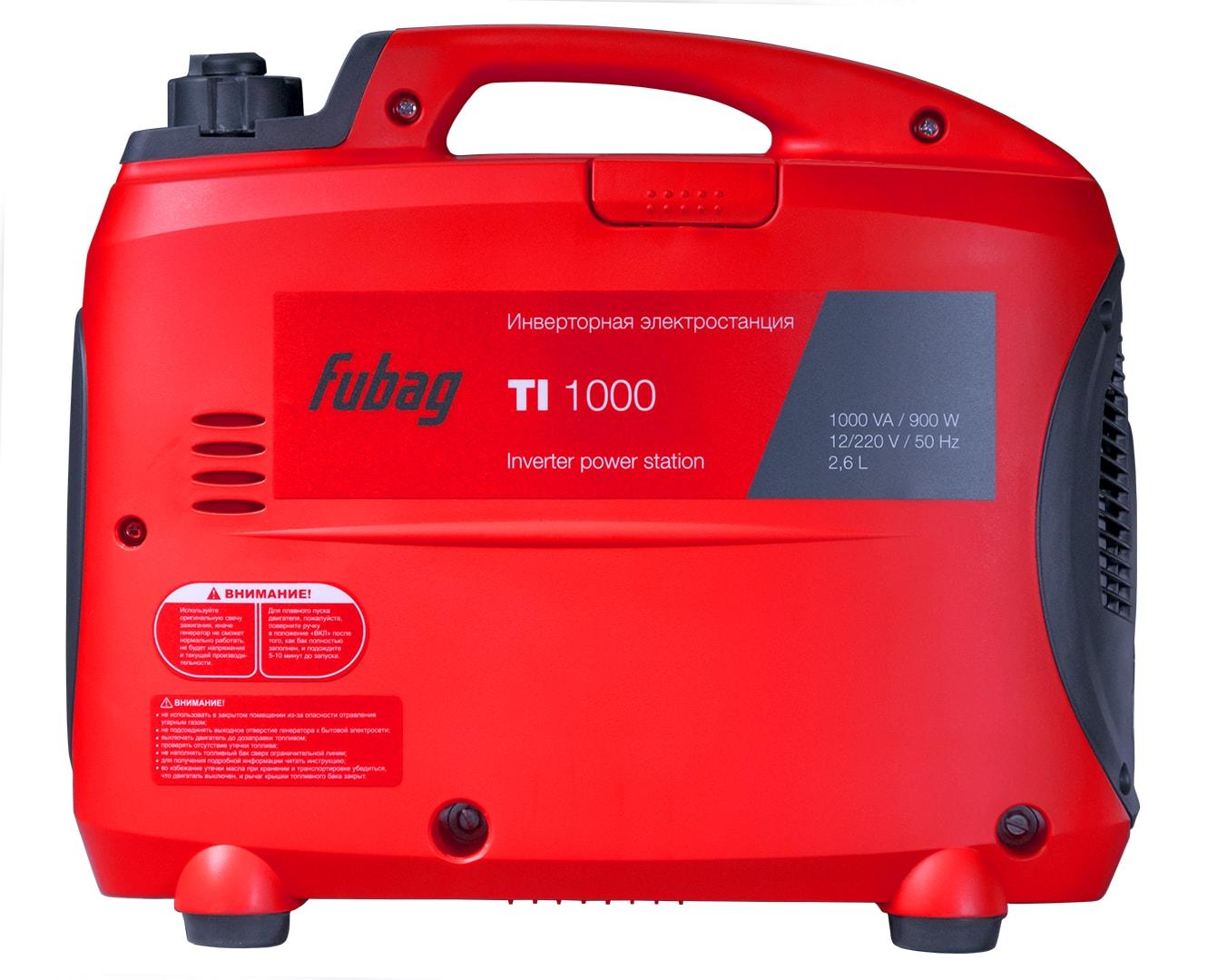 бензиновая электростанция fubag ti 1000