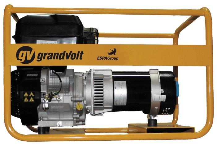 бензиновая электростанция grandvolt gvb 7000 tx 35l