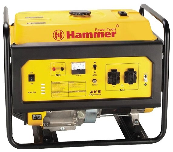 бензиновая электростанция hammer gnr5000 а электростартер