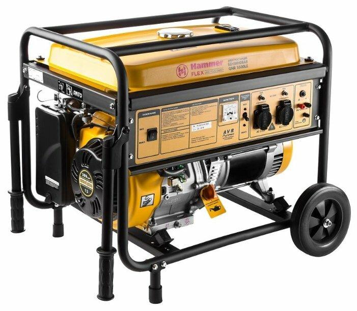 бензиновая электростанция hammer gnr5500 le