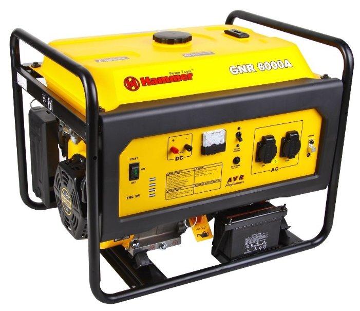 бензиновая электростанция hammer gnr6000 а