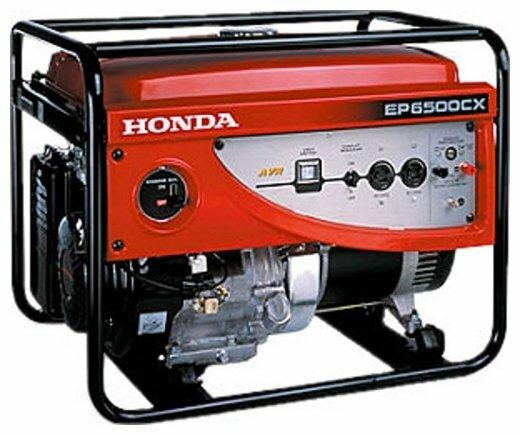 бензиновая электростанция honda ep6500cx