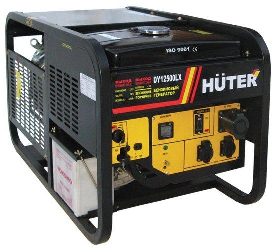 бензиновая электростанция huter dy12500lx