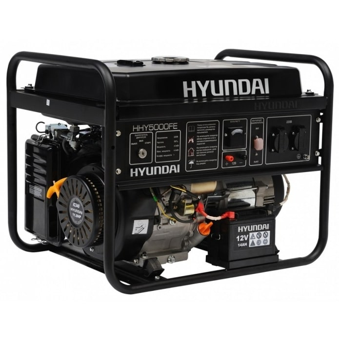 бензиновая электростанция hyundai hhy 5020fe