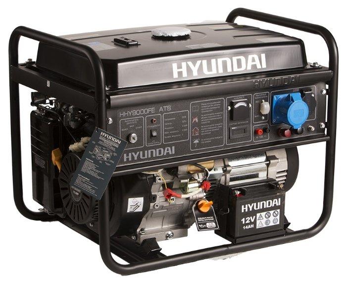бензиновая электростанция hyundai hhy 9000fe ats
