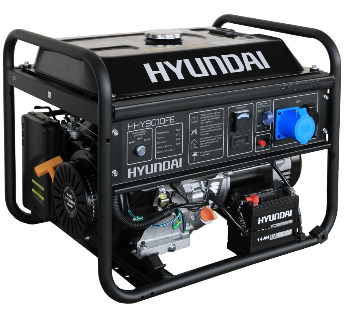 бензиновая электростанция hyundai hhy 9010fe