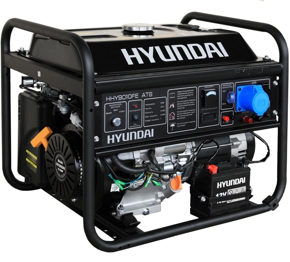 бензиновая электростанция hyundai hhy 9010fe ats