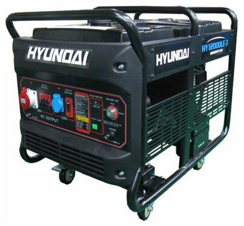 бензиновая электростанция hyundai hy12000lek-3