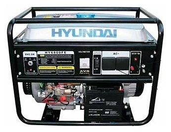 бензиновая электростанция hyundai hy6800fe