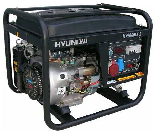 бензиновая электростанция hyundai hy7000lk-3