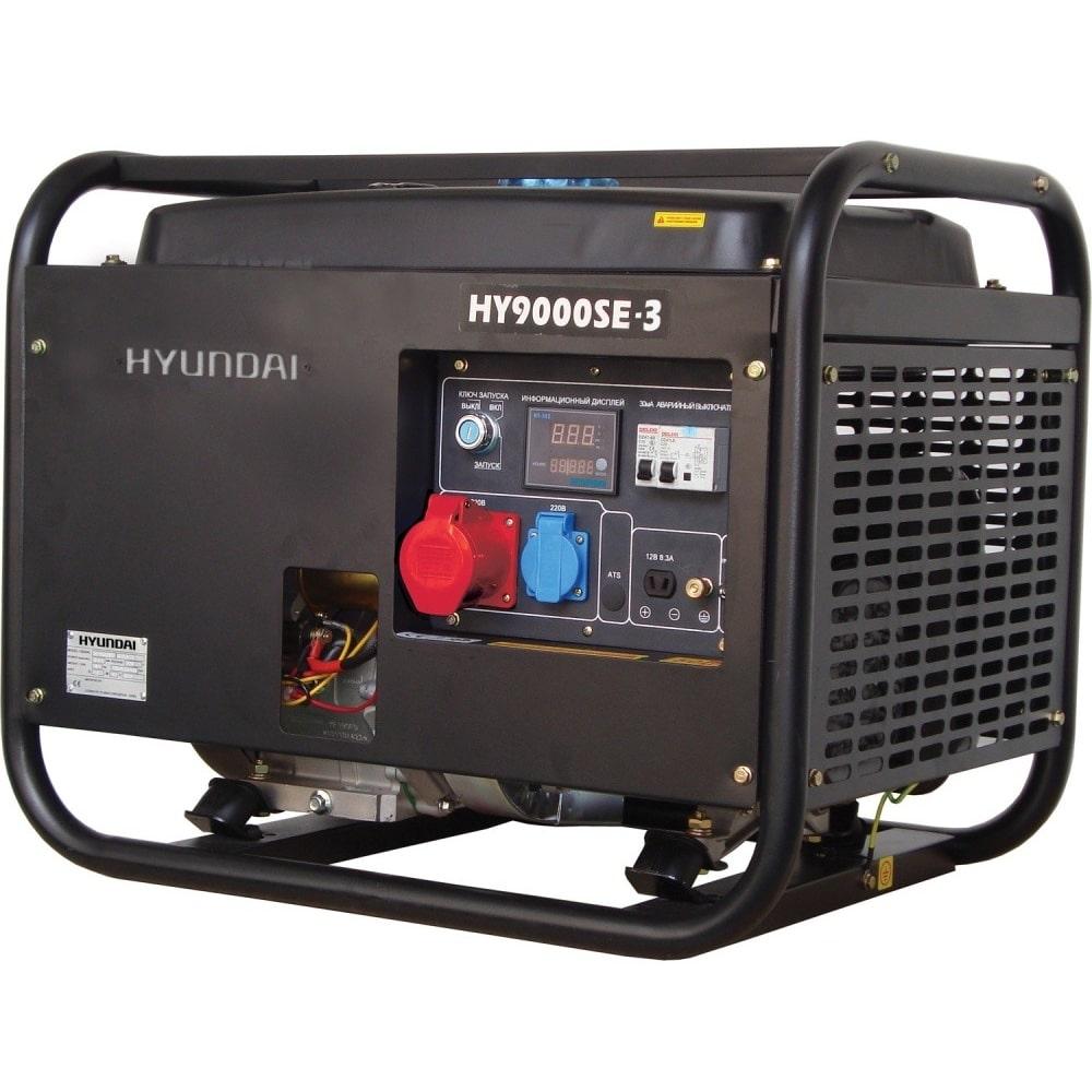 бензиновая электростанция hyundai hy 9000se-3