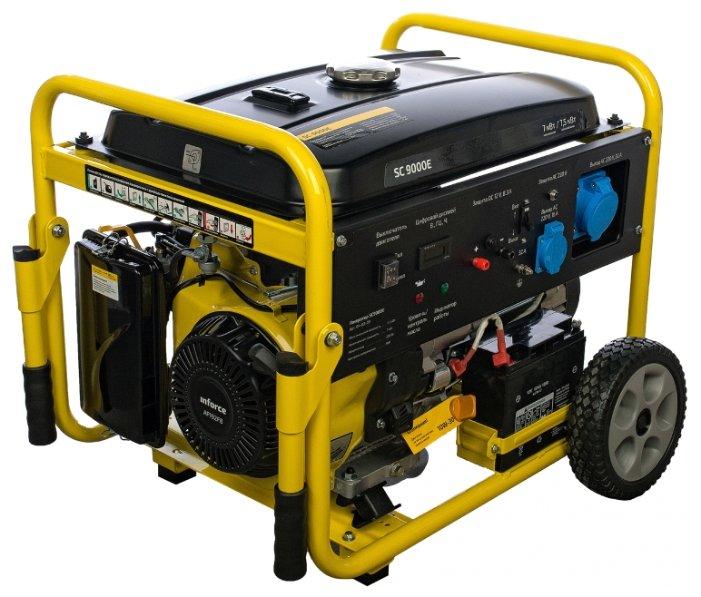 бензиновая электростанция inforce sc9000e