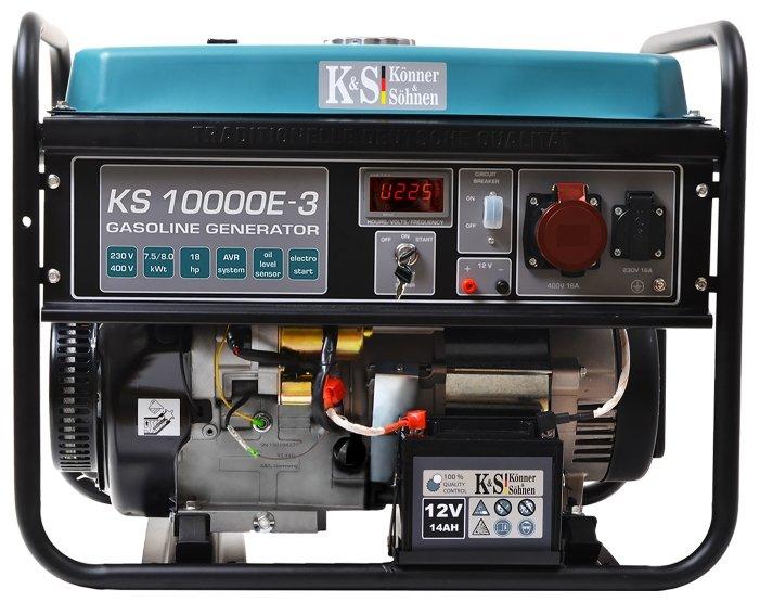 бензиновая электростанция k&s könner & söhnen ks 10000e-3
