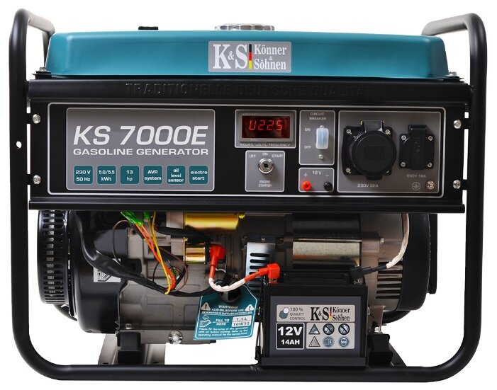 бензиновая электростанция k&s könner & söhnen ks 7000e