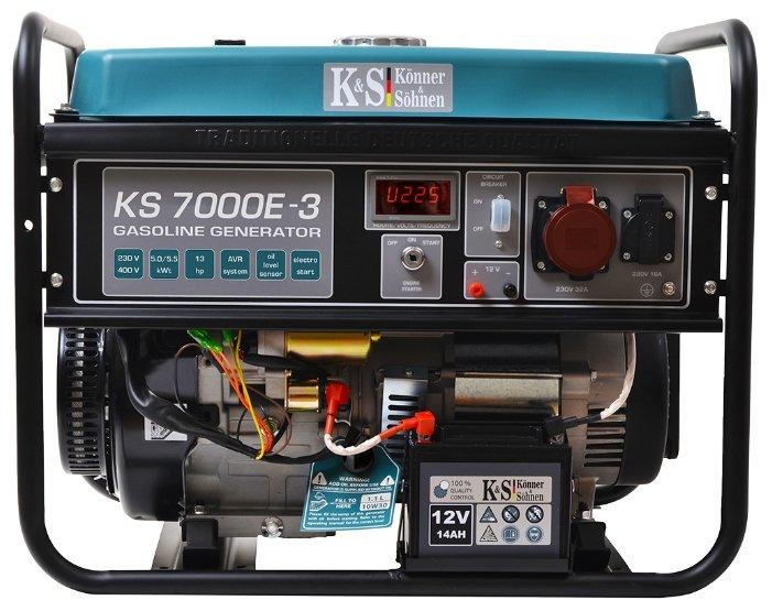 бензиновая электростанция k&s könner & söhnen ks 7000e-3