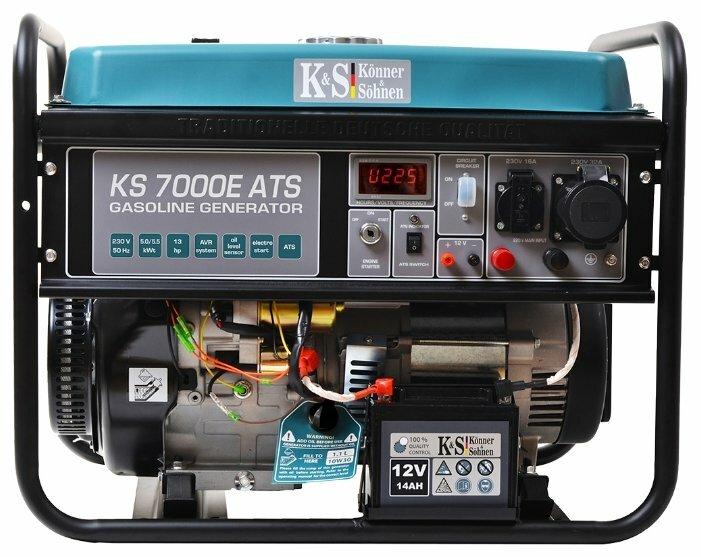 бензиновая электростанция k&s könner & söhnen ks 7000e ats