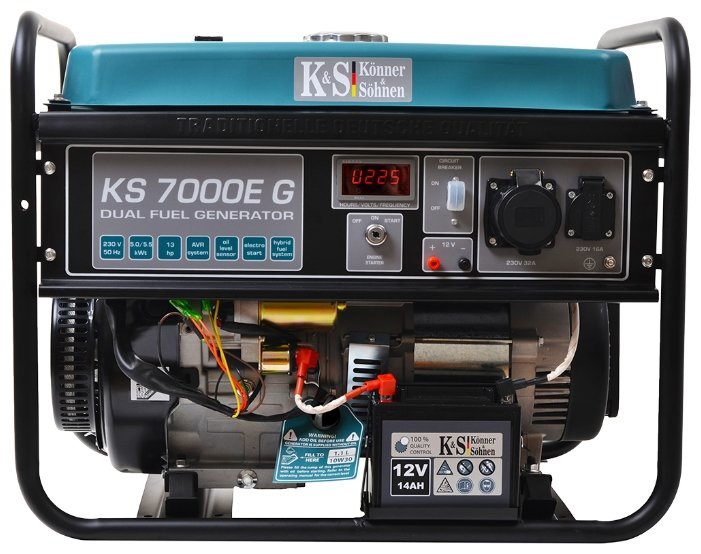 бензиновая электростанция k&s könner & söhnen ks 7000e g