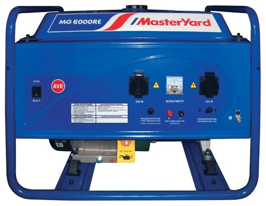 бензиновая электростанция masteryard mg 6000re