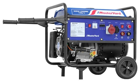 бензиновая электростанция masteryard mgw 4500re-190/1