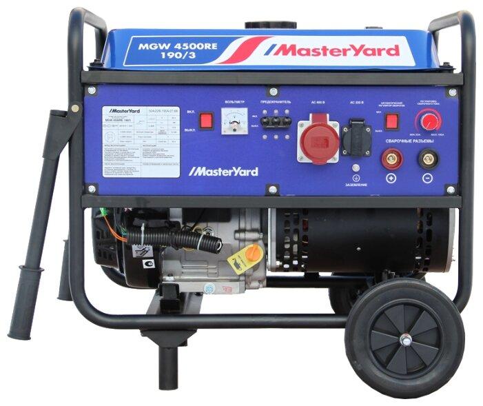 бензиновая электростанция masteryard mgw 4500re-190/3