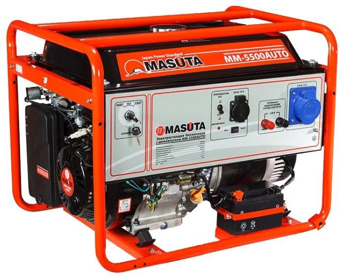 бензиновая электростанция masuta mm-5500 auto