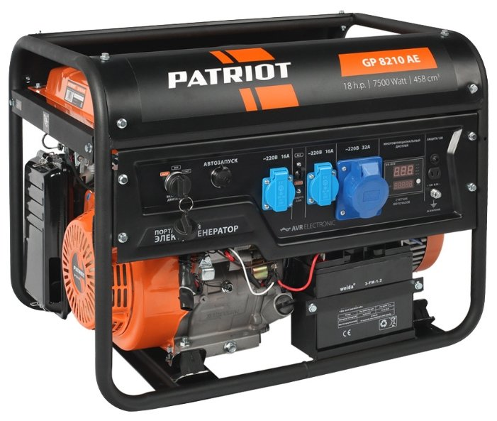 бензиновая электростанция patriot gp 8210ae + gpa 1005