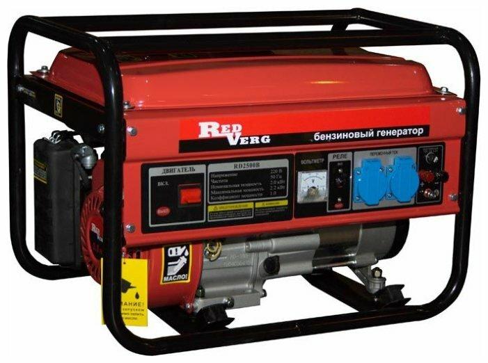бензиновая электростанция redverg rd2500b