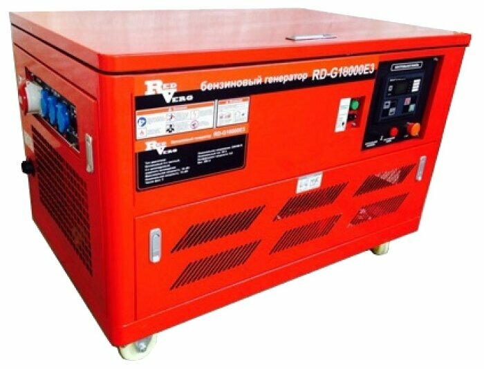 бензиновая электростанция redverg rd-g18000e3