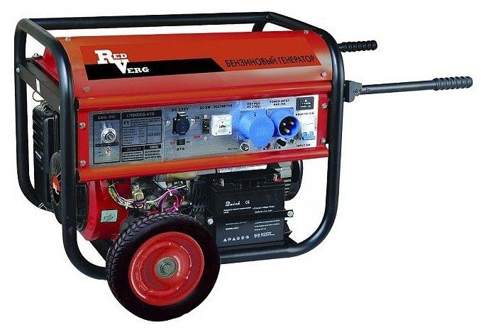 бензиновая электростанция redverg rd-g6500ena