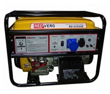 бензиновая электростанция redverg rd-g7500e