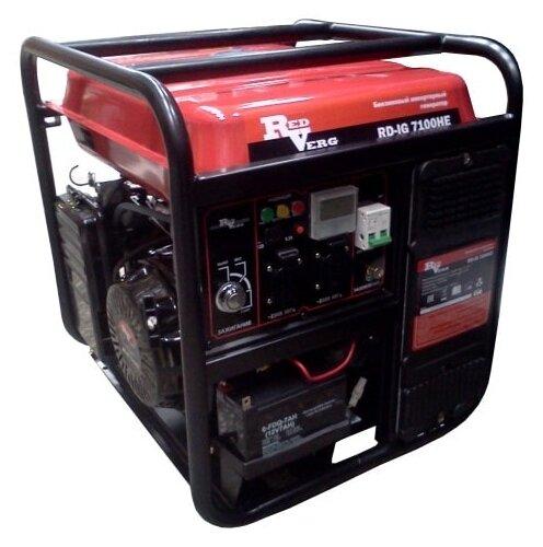 бензиновая электростанция redverg rd-ig7100he