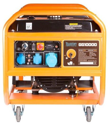 бензиновая электростанция russian engineering group gg10000 бензин