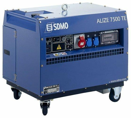 бензиновая электростанция sdmo alize 7500 te