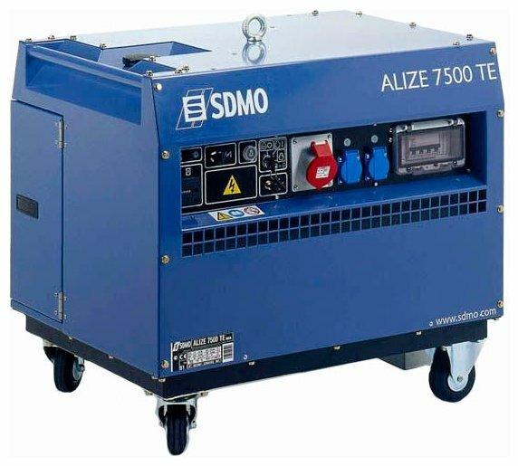 бензиновая электростанция sdmo alize 7500 te auto