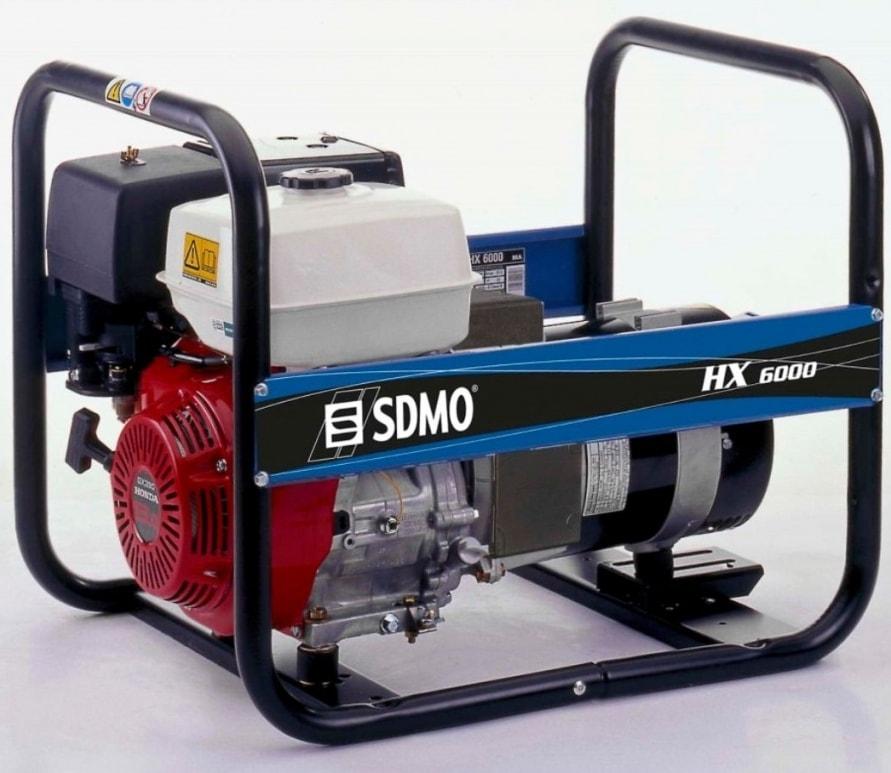 бензиновая электростанция sdmo hx 6000 c