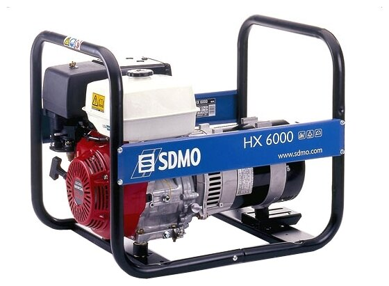 бензиновая электростанция sdmo hx6000 s