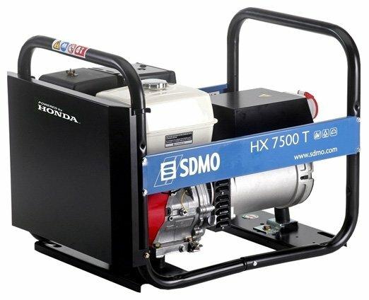 бензиновая электростанция sdmo hx7500t-2