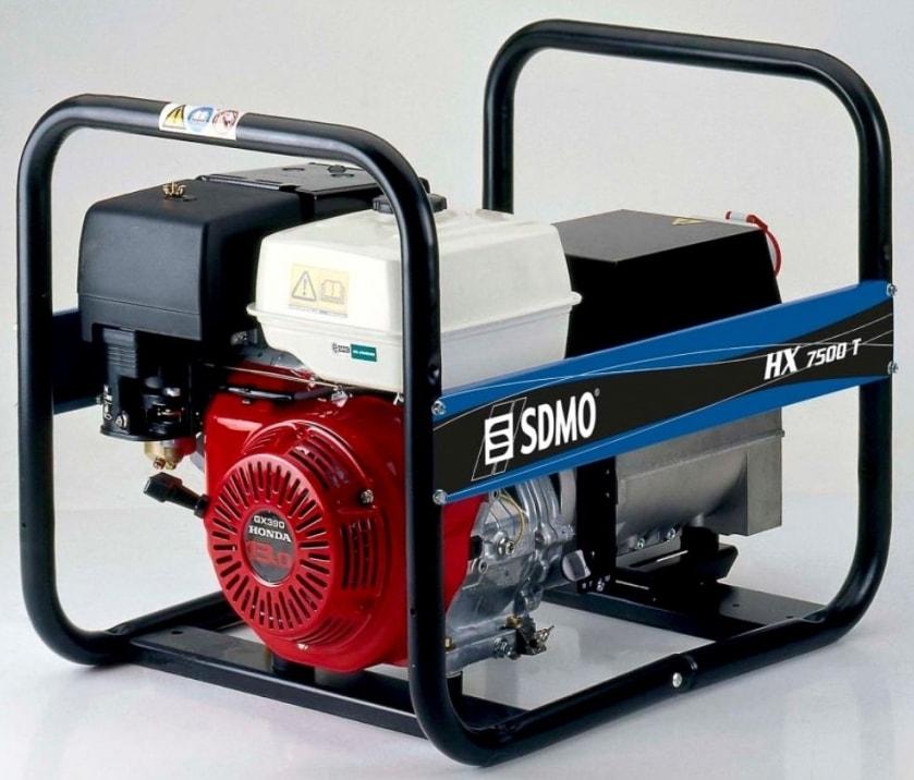бензиновая электростанция sdmo hx 7500 t-c