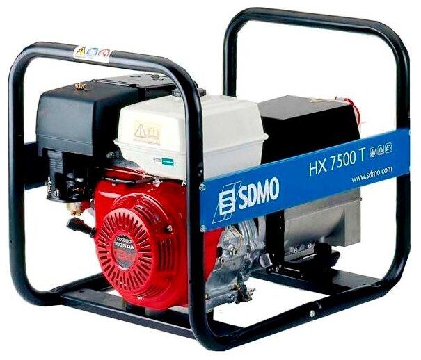 бензиновая электростанция sdmo hx7500t s