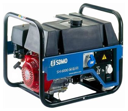 бензиновая электростанция sdmo sh6000 s