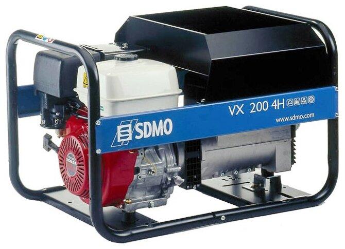 бензиновая электростанция sdmo vx220/7.5h s