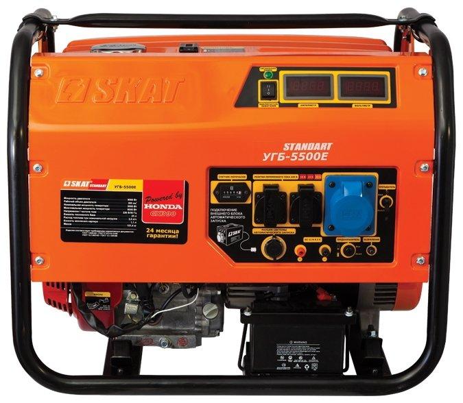 бензиновая электростанция skat угб-5500е standart
