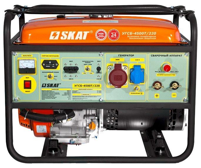 бензиновая электростанция skat угсб-4500т/220
