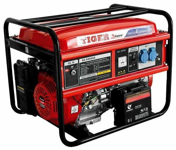 бензиновая электростанция tiger ec6500ae