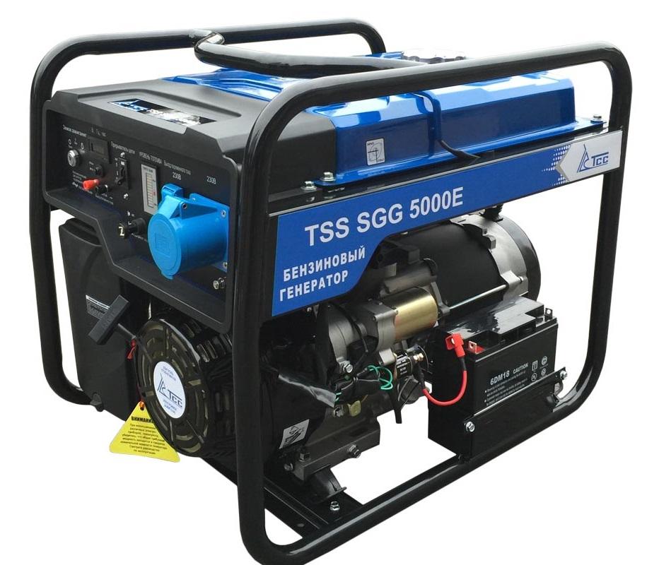 бензиновая электростанция tss sgg 5000 e