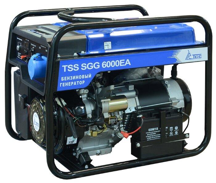 бензиновая электростанция tss sgg-6000 ea