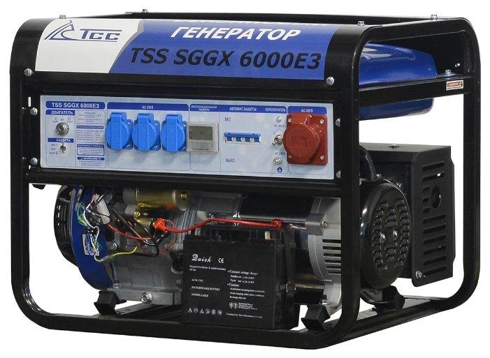 бензиновая электростанция tss sggx 6000 e3