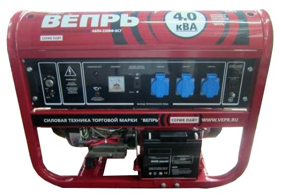 бензиновая электростанция вепрь абп 4-230 вф-бсг